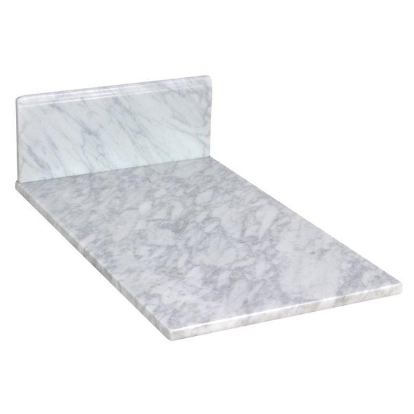"""Dessus en marbre Juliet, 11,75"""" x 19"""", blanc"""