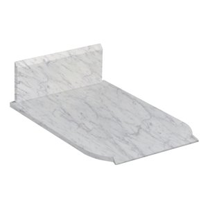 "American Imaginations Antique Marble Top - 13.25"" x 19"" - White"