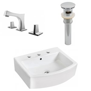 "Ensemble de vasque, 22,25"" x 45,5"", blanc"
