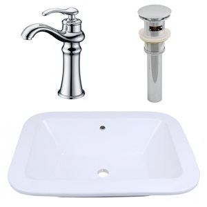 "Ens. de vasque encastrée, 21,75"" x 30"", blanc"