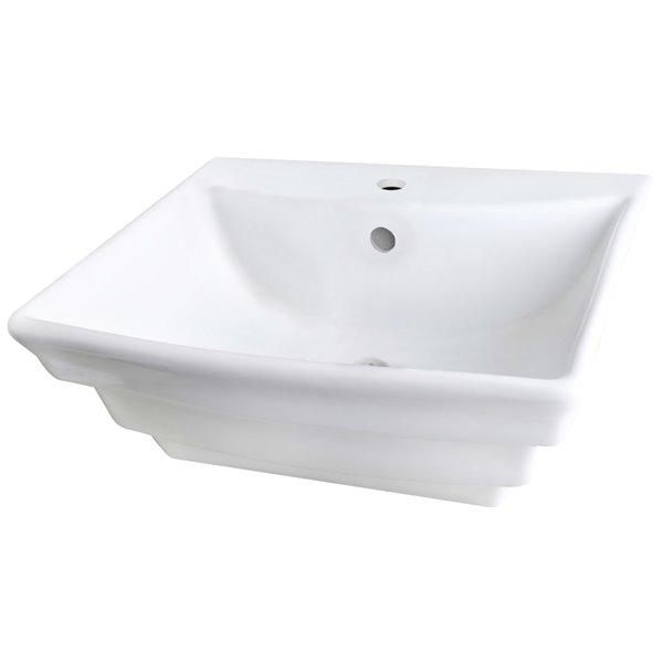 "American Imaginations Wall Mount Vessel Set - 19.75"" x 25"" - White"