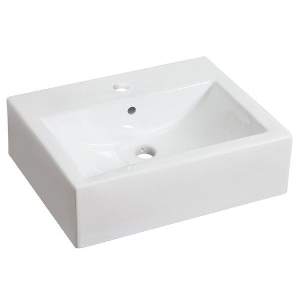 "Ensemble de vasque, 20,25"" x 25"", blanc"