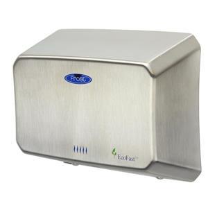 Sèche-mains compact à haute vitesse, acier inoxydable