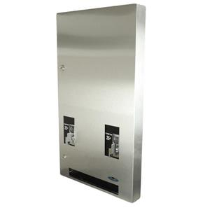 Frost Recessed Feminine Product Vendor - Free - Stainless Steel