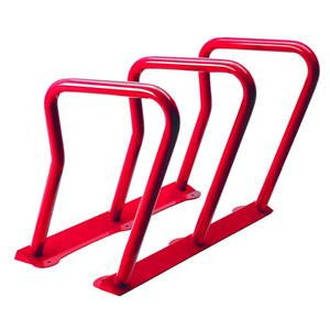 Support à vélos, 6 vélos, rouge