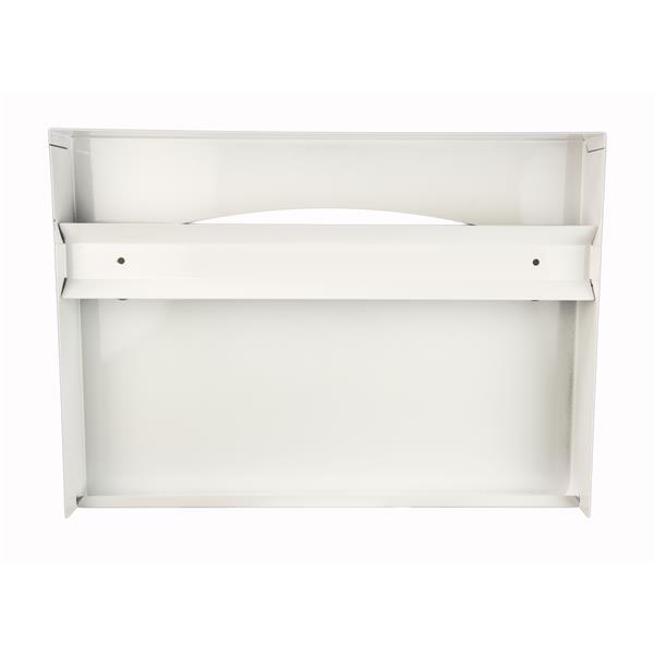 Distributeur de couvre-sièges de toilette, blanc