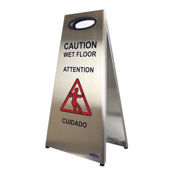 Panneau d'avertissement de plancher glissant