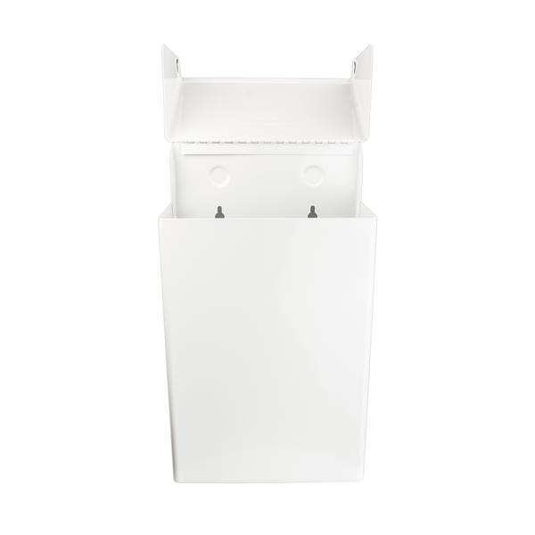 Poubelle pour serviettes hygiéniques, acier inoxydable
