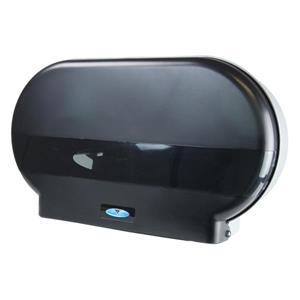 Frost Jumbo Double Roll Toilet Paper Dispenser - Black