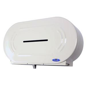 Frost Jumbo Double Roll Toilet Paper Dispenser - White