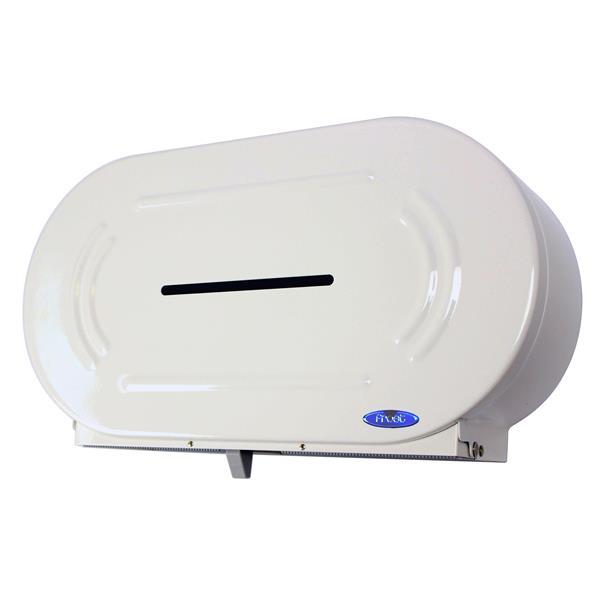 Distributeur double de papier hygiénique géant, blanc