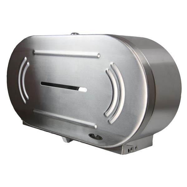 Frost Jumbo Double Roll Toilet Paper Dispenser - Stainless Steel