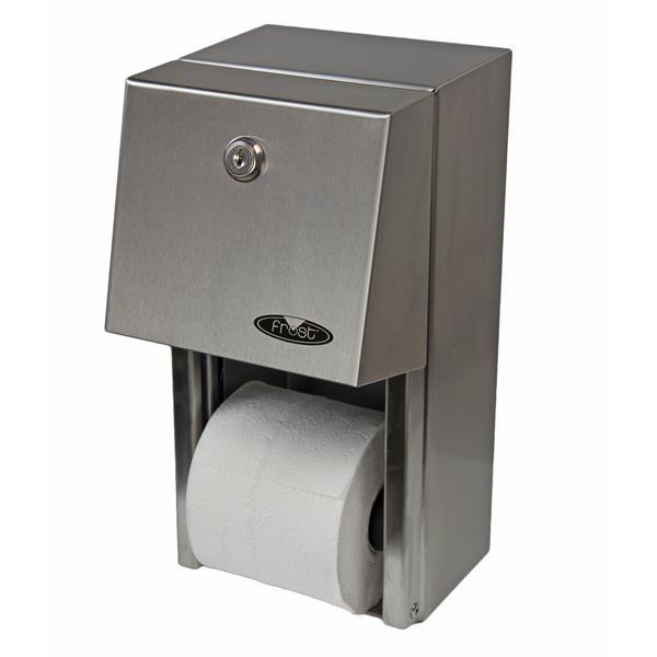 Distributeur double de papier hygiénique, acier inoxydable