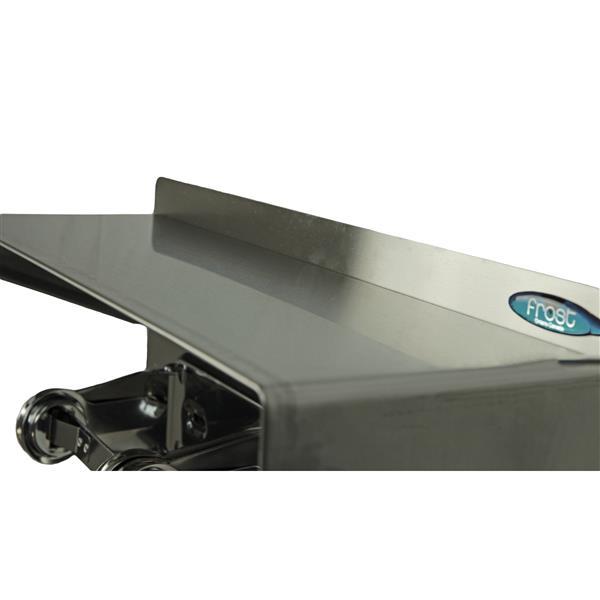 Distributeurs de papier hygiénique avec tablette, acier inox