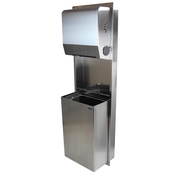 Frost Paper Towel Dispenser And Disposal - Stainless steel