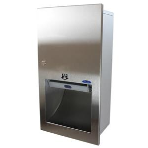 Frost Semi-Recessed Automatic Paper Towel Dispenser - Stainless
