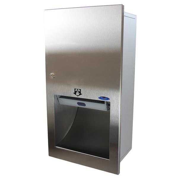 Distributeur de serviettes en papier automatique, acier inox