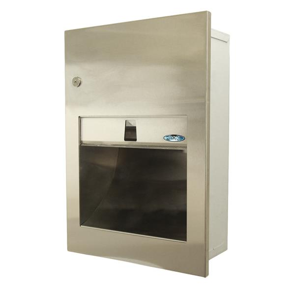 Frost Recessed Paper Towel Dispenser - Stainless steel