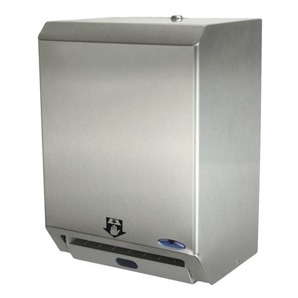 Distributeur automatique de serviettes en papier, acier inox