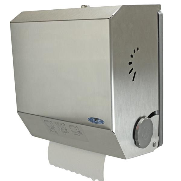 Frost Mechanical Hands-Free Paper Towel Dispenser - Stainless