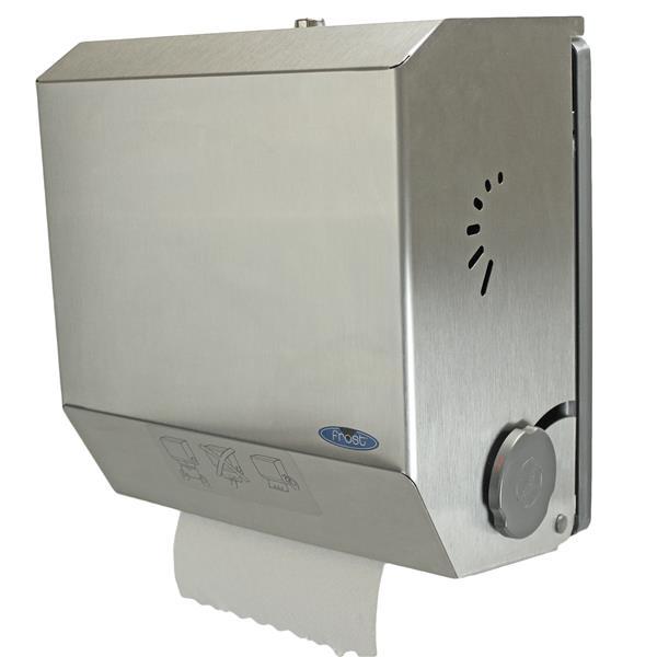 Distributeur de serviettes en papier mecanique mains libres