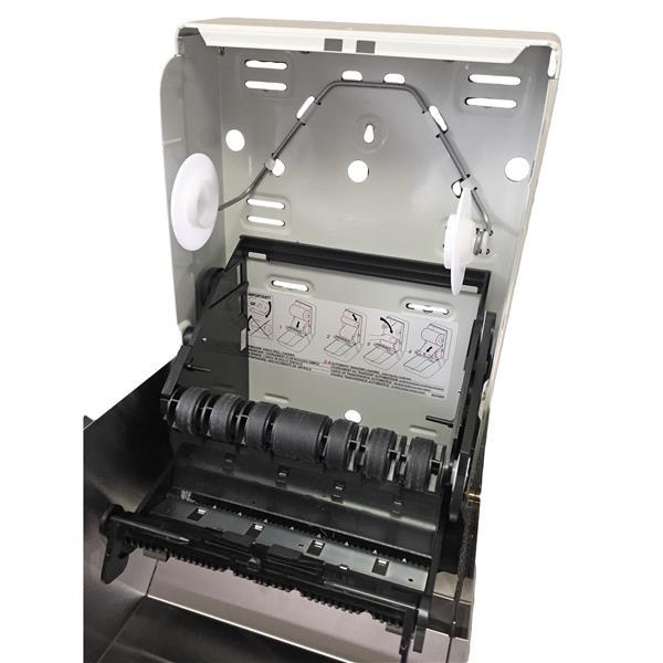 Distributeur de serviettes en papier à push bar, acier inox