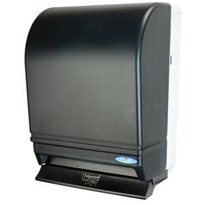 Distributeur de serviettes en papier à push bar, noir