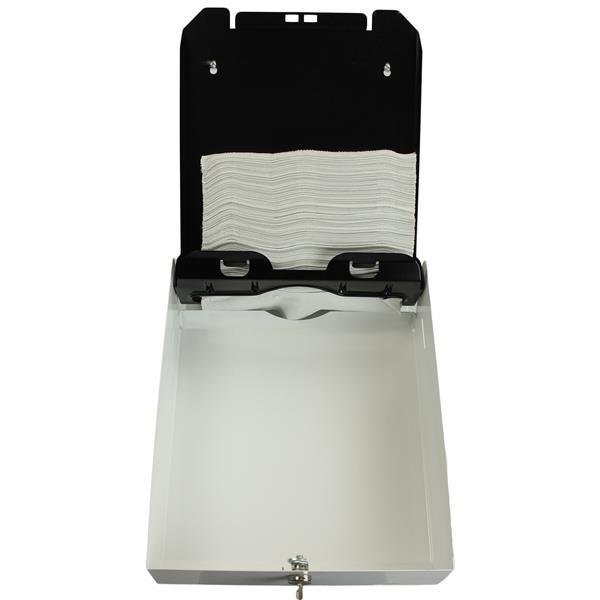 Distributeur d'essuie-mains à plis multiples, blanc