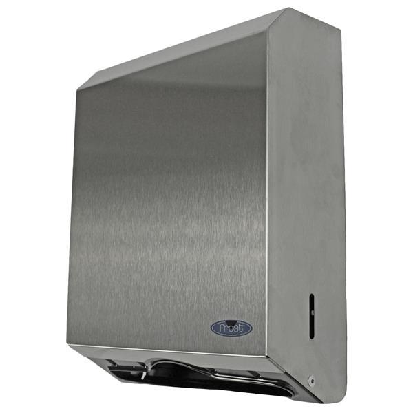 Distributeur d'essuie-mains à plis multiples, acier inox