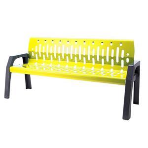 Stream Steel Bench - 6' - Yellow