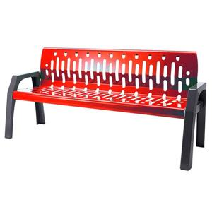 Frost Stream Steel Bench - 6' - Red