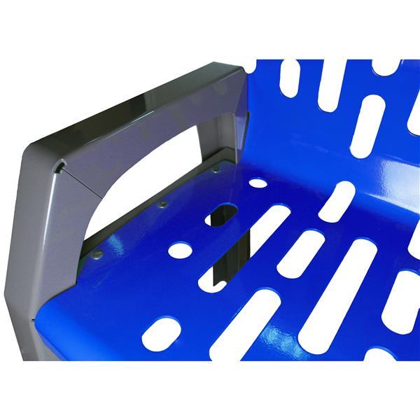 Banc en acier Stream, 6', bleu