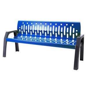 Frost Stream Steel Bench - 6' - Blue