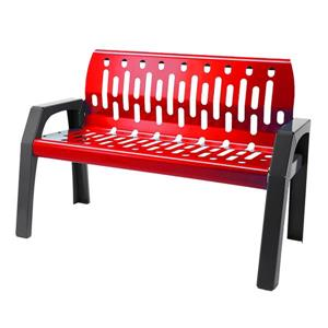 Frost Stream Steel Bench - 4' - Red