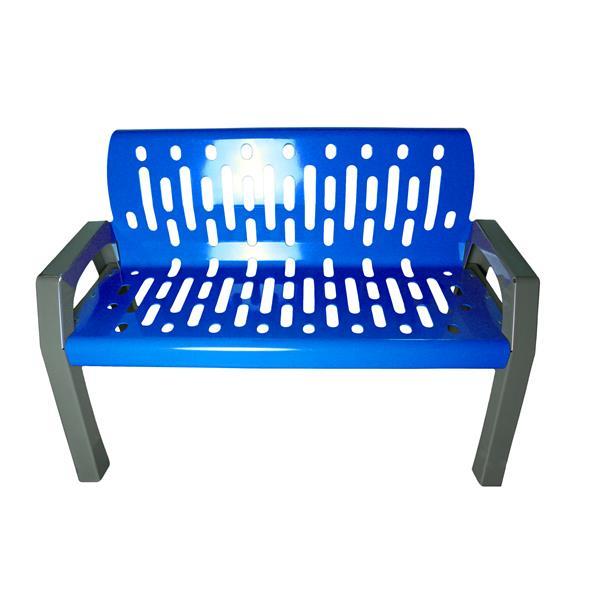 Frost Stream Steel Bench - 4' - Blue