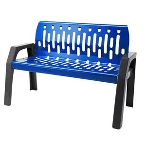 Frost Stream Steel Bench - 4' - Blue