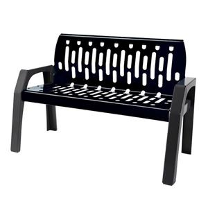 Stream Steel Bench - 4' - Black