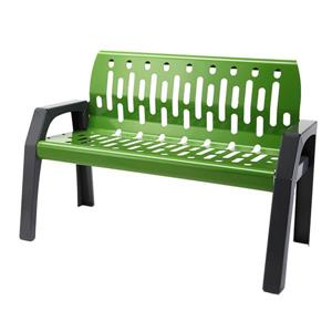 Frost Stream Steel Bench - 4' - Green