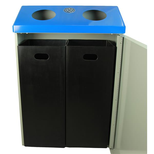Frost Recycling Station Wall Mount - Grey and Blue