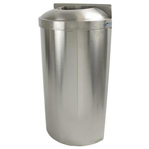Wall Mounted Waste Receptacle - Stainless Steel