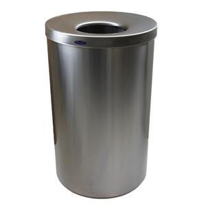 Lobby Waste Receptacle - Stainless Steel