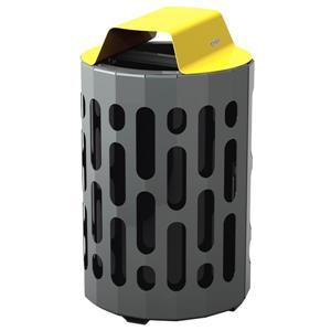Stingray Waste Receptacle - Yellow
