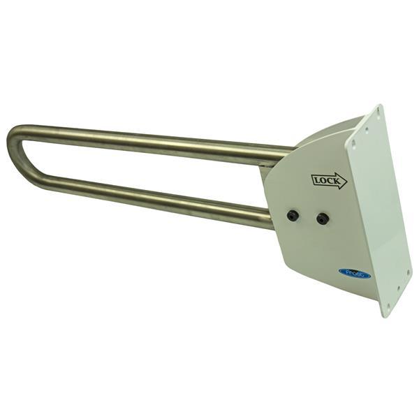 Barre d'appui rabattable, acier inoxydable