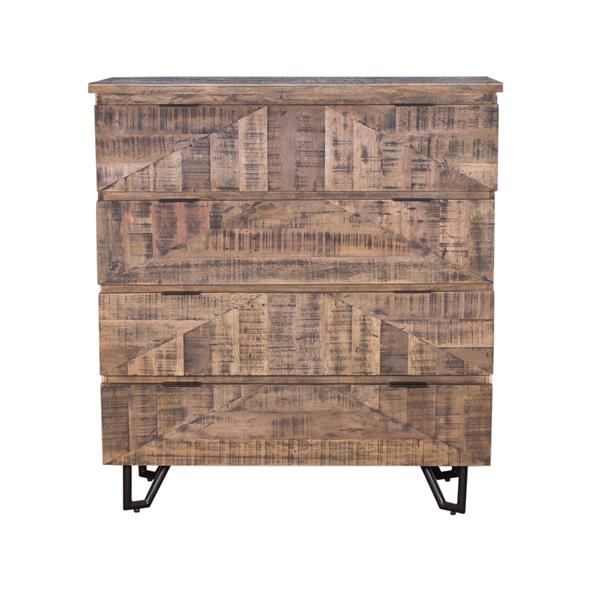 "CDI Furniture Casual Chest - 18"" x 47"" - Wood - Beige"
