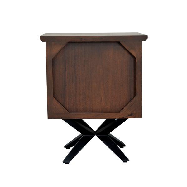 """Table de chevet Streamline, 16"""" x 22"""", bois, brun"""