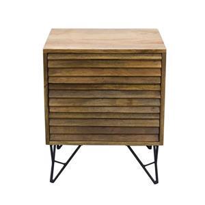 """Table de chevet Shutter, 18"""" x 22"""", bois, naturel"""