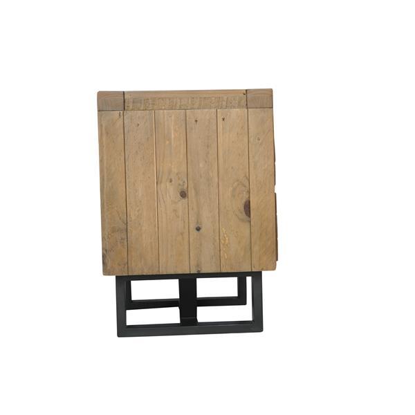"""Table de chevet Praire, 24"""" x 26"""", bois, naturel"""