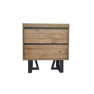 "CDI Furniture Praire Nightstand - 24"" x 26"" - Wood - Natural"