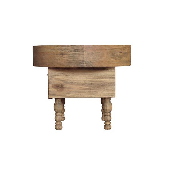 "CDI Furniture Sand Nightstand - 22"" x 18"" - Wood - Natural"