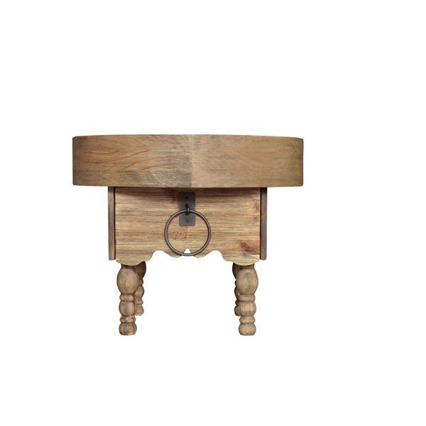 """Table de chevet Sand, 22"""" x 18"""", bois, naturel"""